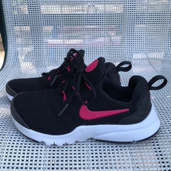 Nike Shoes | Girls Black Pink Slip On